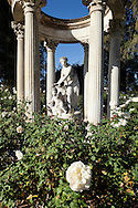 Sculpture in Rose Garden at The Huntington, San Marino, California