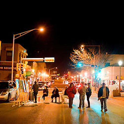 021312       Brian Leddy.Patrons peruse the entertainment on Coal Street during the Feb. 11 ArtsCrawl.