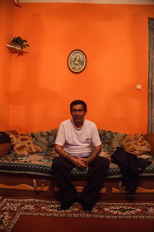 Milan Dano (52) in his home in Presov, Slovakia.