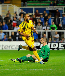 Jermaine Easter of Bristol Rovers celebrates his goal - Mandatory byline: Joe Meredith/JMP - 07966 386802 - 29/09/2015 - FOOTBALL - Victoria Park - Hartlepool, England - Hartlepool United v Bristol Rovers - Sky Bet League Two