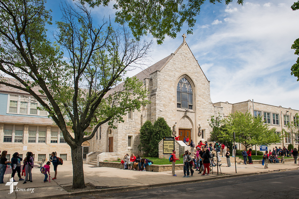 Exterior of Mount Calvary Lutheran Church and School on Wednesday, May 28, 2014, in Milwaukee, Wis. LCMS Communications/Erik M. Lunsford