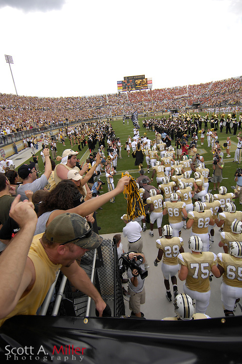 Sep 15, 2007; Orlando, FL, USA; Central Florida Knights fans cheer as their team enters the stadium to play the Texas Longhorns at Bright House Stadium. ...©2007 Scott A. Miller