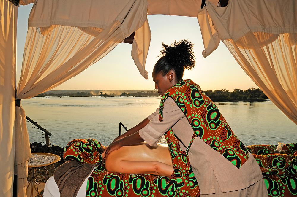 Royal Spa Massage Treatment at Zambesi River, Royal Livingstone Hotel, Livingstone, Southern Province, Zambia
