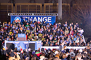 Democratic presidential nominee U.S. Sen. Barack Obama (D-IL) speaks during a campaign rally at the Cleveland Mall November 2, 2008 in Cleveland, Ohio.  Obama continues to campaign against Republican presidential nominee Sen. John McCain (R-AZ) with Election Day two days away.  Photo by Bryan Rinnert/3Sight Photography