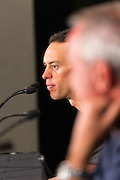 Media Conference with  (L-R) Richie Porte (BMC Racing Team), Santos Tour Down Under Race Director, Mike Turtur, Tour Down Under, Australia on the 14 of January 2017 ( Credit Image: © Gary Francis / ZUMA WIRE SERVICE )