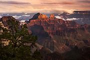 Sunset from the Grand Canyon Lodge on the North Rim.