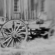 Old Wood Wagon - Bodie, CA - Lensbaby - Black & White