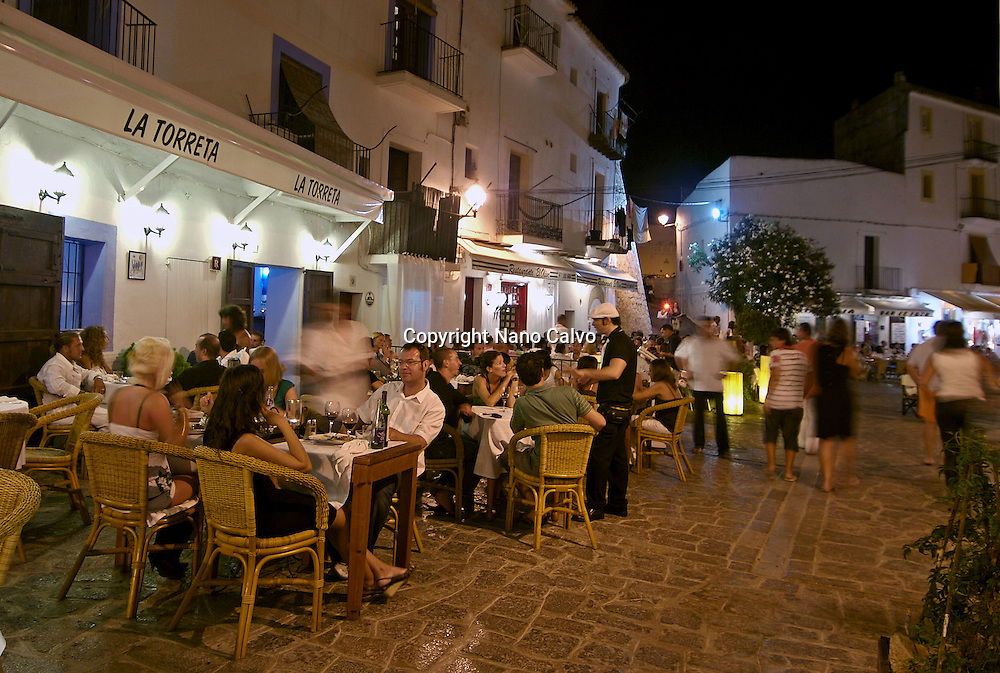 Restaurant La Torreta in Dalt Vila area, in Ibiza, Spain - Photo by Nano Calvo