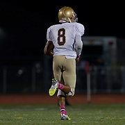 10/05/12 - Middletown, DE - Appoquinimink Football - St. Elizabeth wide receiver Andre Patton (8) returns a punt for a touchdown in the third quarter of a Week 5 DIAA football game against Appoquinimink Friday, Oct. 05, 2012, at Appoquinimink High School in Middletown DE. ..SAQUAN STIMPSON/Special to The News Journal
