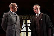 23/04/2012. London, UK. The Browning Version by Harold Pinter, at the Harold Pinter Theatre, London. Picture shows: Andrew Woodall (Dr. Frobisher) and Nicholas Farrell (Andrew Crocker-Harris).