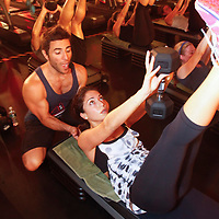Joey Gonzalez leads a class at Barry's Bootcamp in Chelsea on August 15, 2012 ..Photo Credit ; Rahav Iggy Segev / Photopass