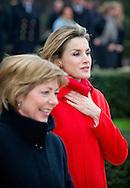 1-12-2014 BERLIN - King Felipe and Queen Letizia of Spain visit German President Joachim Gauck and his wife Daniella Schadt at Schloss Bellevue in Berlin, Germany, 1 December 2014. The King and Queen are in Germany for an official visit. COPYRIGHT ROBIN UTRECHT