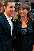 Shia LeBeouf and Karen Allen at the BET Networks and Paramount special screening of Indiana Jones and the Kingdom of the Crystal Skull at The Magic Johnson Theater in Harlem, NYC on May 20, 2008
