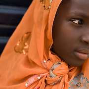 Girl at the Oulampane primary school in the town of Oulampane, Senegal, on Tuesday June 12, 2007...