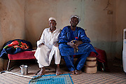 Mohamed aka Boss with his father in their home in Agadez