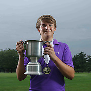 Reed Winkler of Wilmington, DE, poses for a photo after winning the boys 2015 Delaware junior championship at Chesapeake Bay Golf Club Thursday, July 03, 2015, in Rising Sun, Maryland.