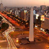 Obelisco at Plaza de la Republica, Centro, Centre, Buenos Aires, Argentina