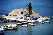 Vlacherna Monastery in Kanoni, Corfu, Greece