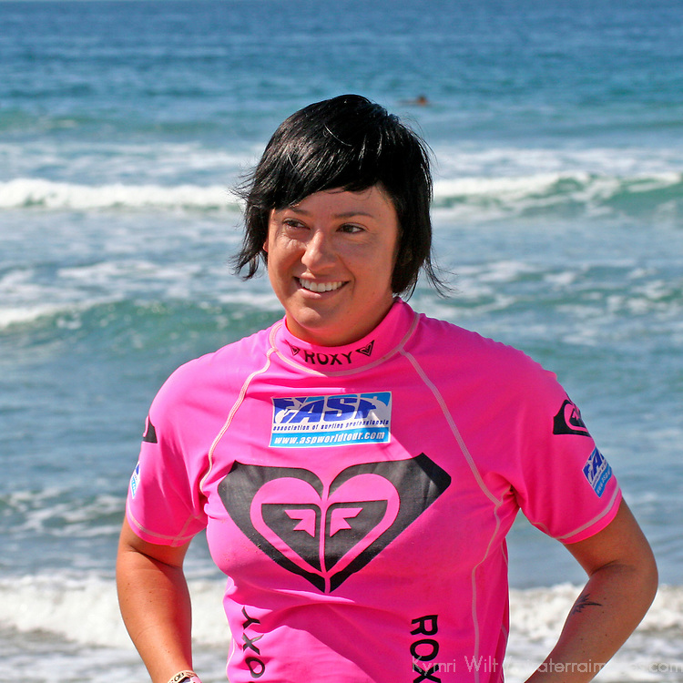 Summer Romero, 4th Place finalist winner of the the 3rd Annual Roxy Jam Linda Benson Women's World Longboard Professional, 2008, Cardiff by the Sea, California.