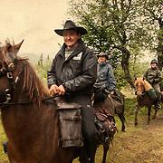 Horsebackriding in the mountains