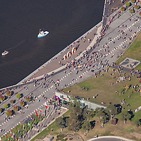 Aerial photo, Canberra 100 celebrations, Lake Burley Griffin, Canberra ACT, 11 March, 2013