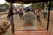 Riding Tuk Tuk through Siem Reap, Cambodia