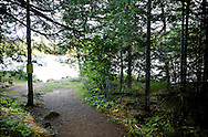 A canoe portage into Bearskin Lake,  one of the gateways to the Boundary Waters Canoe Area Wilderness in the Superior National Forest in Northern Minnesota.