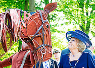 4-9-2014 DOORN-  Princess Beatrix  meets the Warhorse . Princess Beatrix of the Netherlands opens Thursday, September 4th Pavilion Netherlands and the First World War on the grounds of Huis Doorn in the province of Utrecht. COPYRIGHT ROBIN UTRECHT