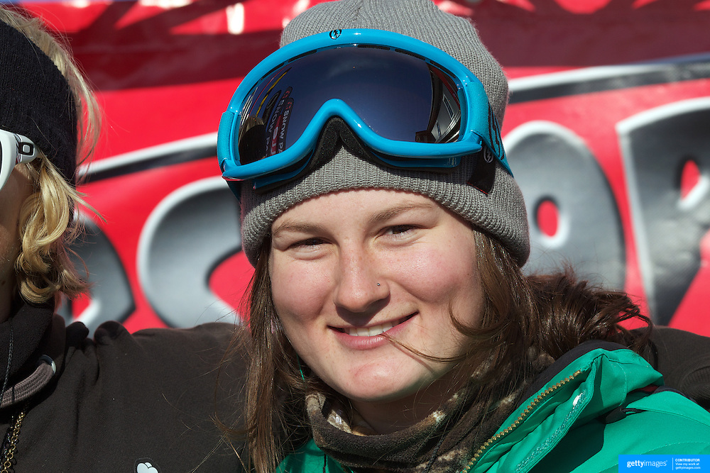 Devin Logan, USA, winner of the Women's Halfpipe Finals during The North Face Freeski Open at Snow Park, Wanaka, New Zealand, 3rd September 2011. Photo Tim Clayton....