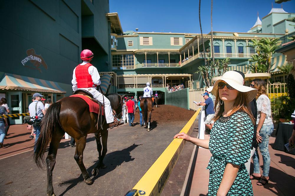 March 07 2015: Scenes from Santa Anita Handicap Day at Santa Anita Park in Arcadia CA. Alex Evers/ESW/CSM`