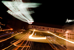 """The Flying A, Truckee"" - This old service station is located in Downtown Truckee, CA. The effect was achieved by zooming the lens during a long exposure."