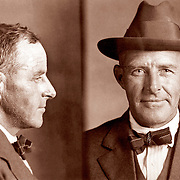 1921 mug shot from New Jersey 40 year old suspect for writing bad checks