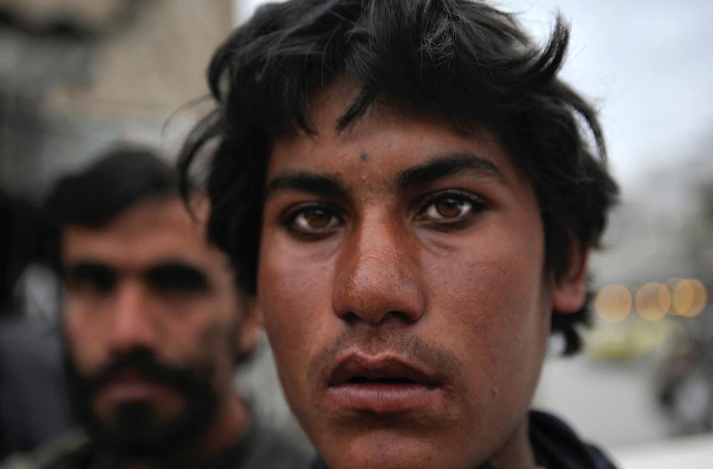 Portrait of Taliban men in Kandahar, Afghanistan.