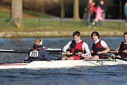 2012.02.25 Reading University Head 2012. The River Thames. Division 2. Bristol University Boat Club B Nov 8+