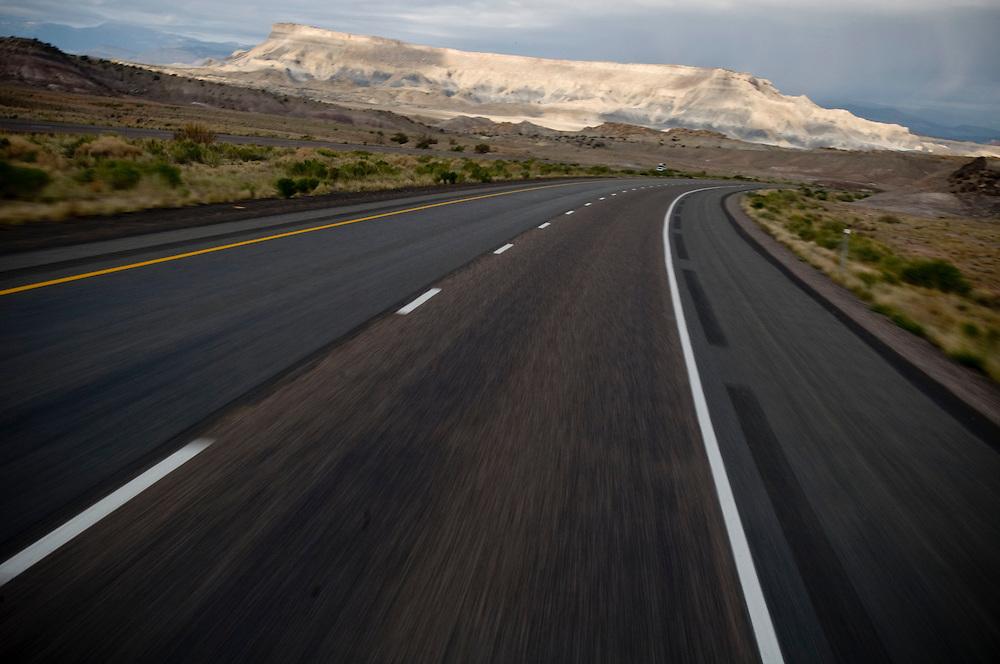 Desert highway, southern Utah..Photographer: Chris Maluszynski /MOMENT