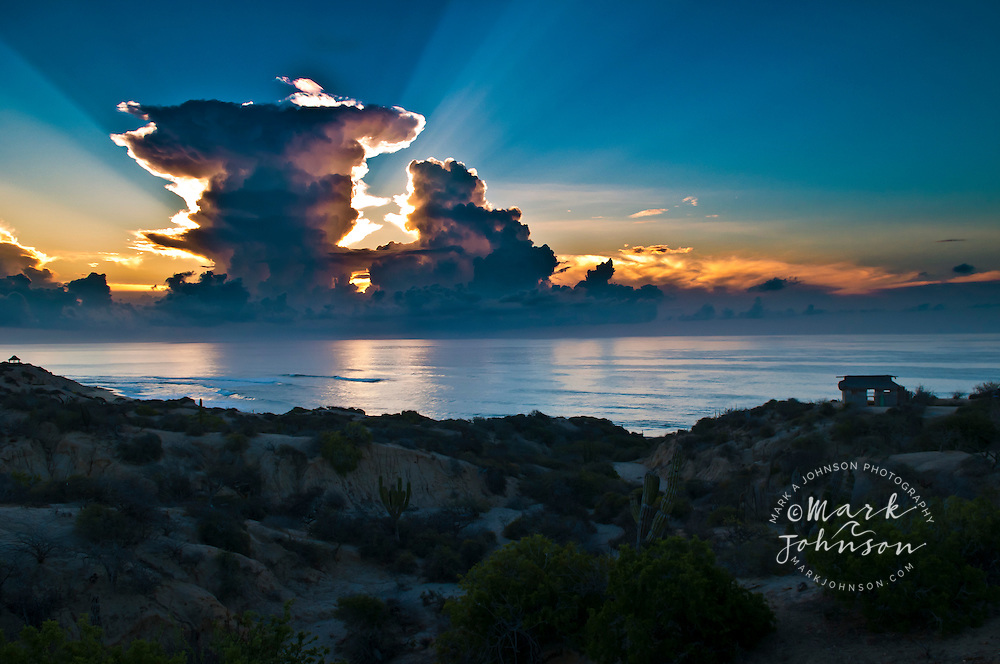 Dawn thunderstorm, Gulf of California, Baja California Sur, Mexico