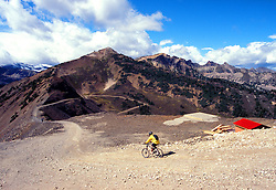 Mountain biking in Kicking Horse Resort in British Colubia.<br />