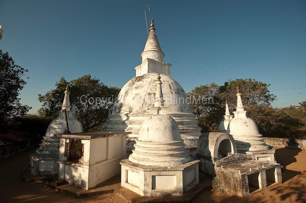 The Buddhist temple, Girikandaraya Chaitiya near Kalametiya Lagoon. South Coast.