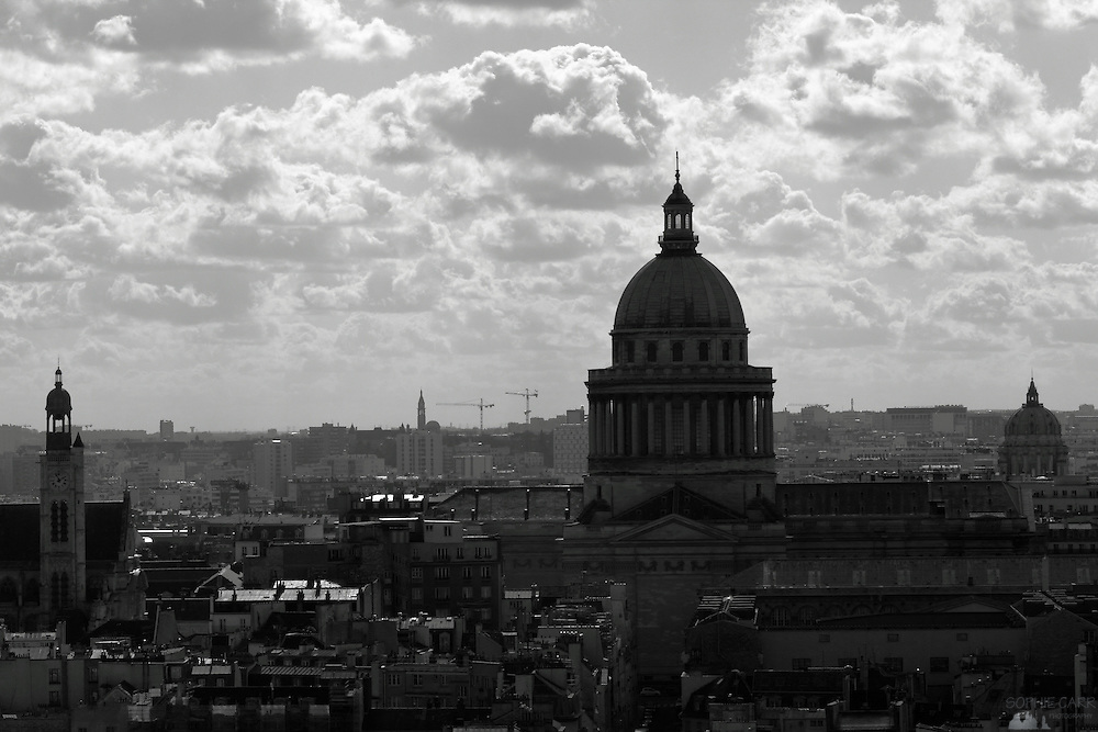 Views of the city of Paris taken from the towers of Notre Dame - this is the Pantheon, which dominates the skyline to the south