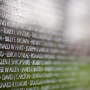 The Vietnam Veteran's Memorial in Washington, DC, on Tuesday, April 8, 2009.