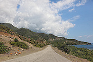 The south coast road from Santiago de Cuba to Pilon.