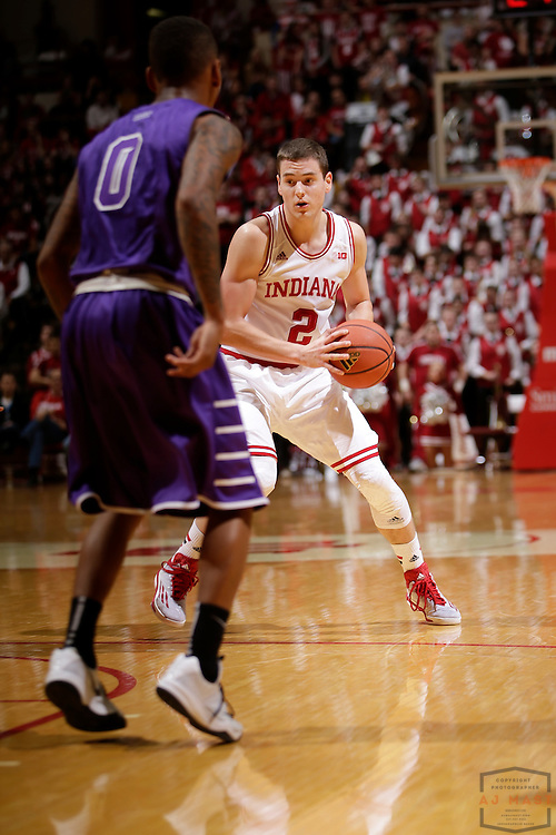Indiana guard Nick Zeisloft (2) as Grand Canyon played Indiana in an NCAA college basketball game in Bloomington, Ind., Saturday, Dec. 13, 2014. (AJ Mast/Photo)