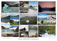 """This 21-photo collage contains representative images from four years of photographing the Inside Passage of Southeast Alaska. (32.6""""x23.6"""")"""