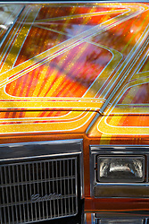 Detail of a colorful Low Rider Car