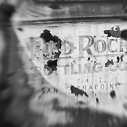 Red Rock Bottling Company Truck Door - Motor Transport Museum - Campo, CA - Lensbaby - Black & White