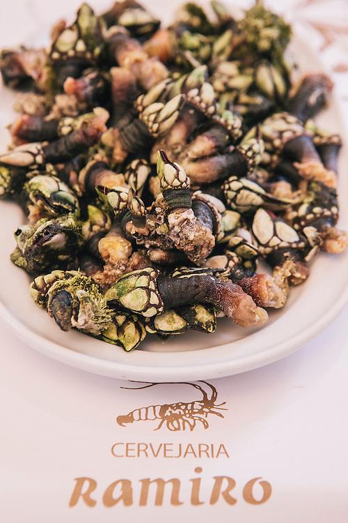 Goose barnacles (Pedunculata) at Cervejaria Ramiro, Lisbon