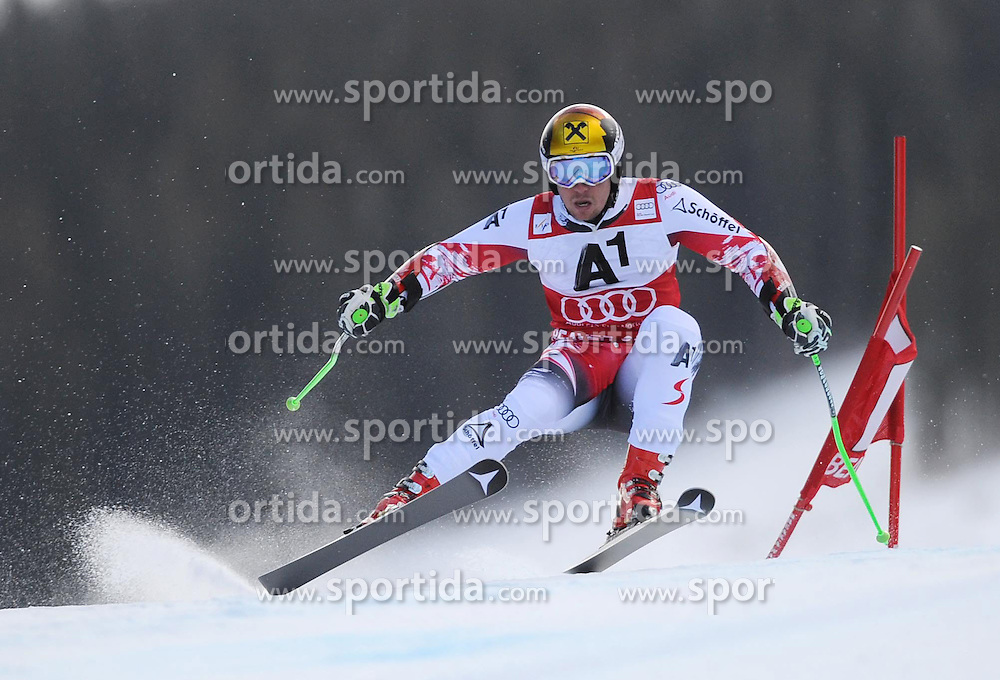 07.12.2014, Birds of Prey Course, Beaver Creek, USA, FIS Weltcup Ski Alpin, Beaver Creek, Herren, Riesenslalom, 1. Lauf, im Bild Marcel Hirscher (AUT) // Marcel Hirscher of Austria in actionduring the 1st run of men's Giant Slalom of FIS Ski World Cup at the Birds of Prey Course in Beaver Creek, United States on 2014/12/07. EXPA Pictures © 2014, PhotoCredit: EXPA/ Erich Spiess