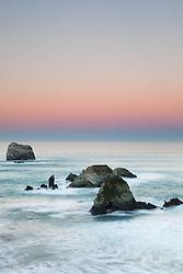 """Dawn at Plaskett Rock 2"" - Photograph of Big Sur's Plaskett Rock at dawn."