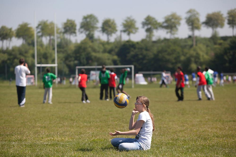 Tournoi des collégiens, Jeux du Val-de-Marne 2013, Parc des Sports du Grand Godet, Villeneuve-le-Roi