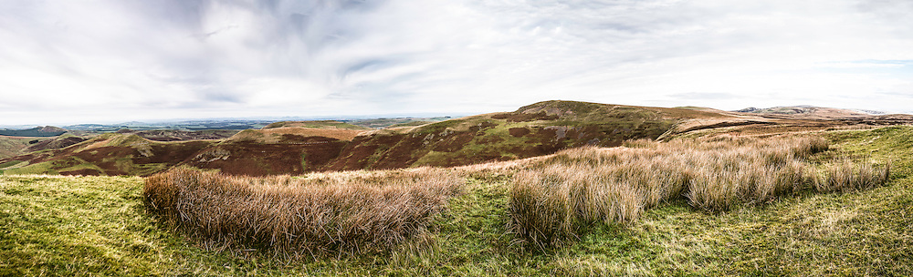Looking north east from Gaisty Law, Cheviot Hills, Hindhope, Scottish Borders.